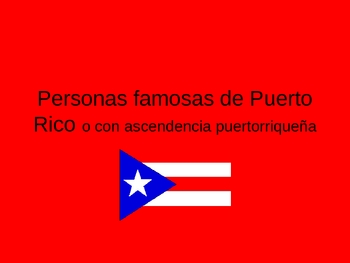 Famous Puerto Ricans PowerPoint