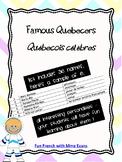 Famous Quebecers - Liste de Québecois célèbres *FRENCH*