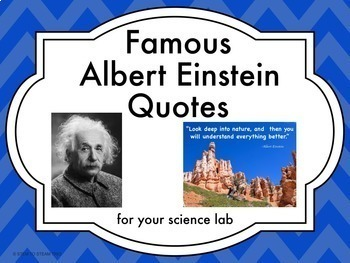 Famous Quotes Posters for Your Makerspace or STEM Lab Bundle
