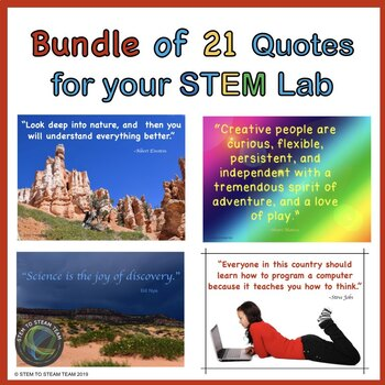 Famous Quotes Posters for Your STEM / STEAM Lab Bundle