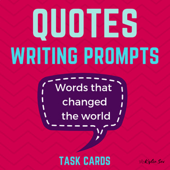 Famous Quotes Reflective Writing Journal Prompts By Kylie Sev Tpt