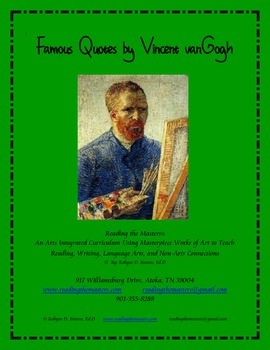 Famous Quotes by Vincent vanGogh