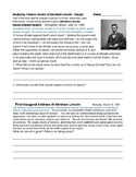 Famous Quotes of Abraham Lincoln - Primary Source Evaluation, Analysis, Speeches