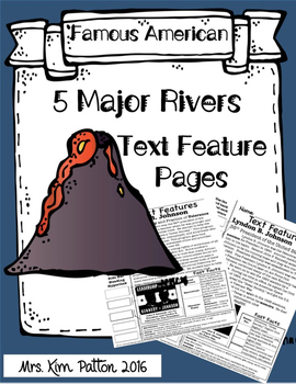 Famous Rivers Text Features Page