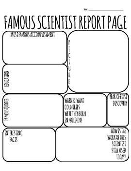 Famous Scientist Report Template