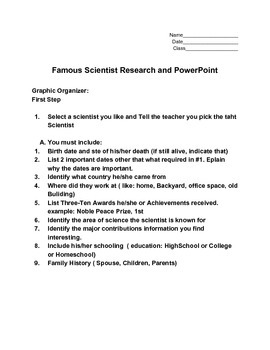Famous Scientist Research Project