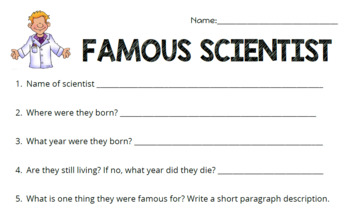 Famous Scientist Research Project & Presentation