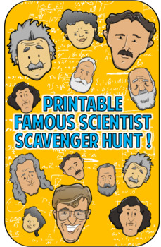 Famous Scientist Scavenger Hunt Game