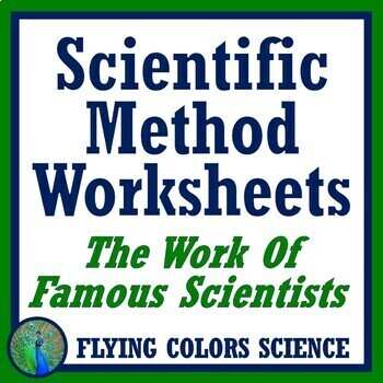 """Middle School Famous Scientist """"Nature of Science"""" Worksheets - 2 Versions NGSS"""
