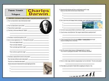 Famous Scientist Webquest - Charles Darwin (evolution / natural selection)