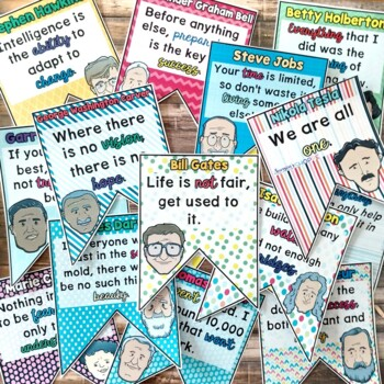 Famous Scientist and Inventor Inspirational Classroom Decor Nonfiction Article