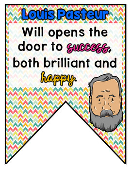 Famous Scientist and Inventor Quote Banner Back to School Classroom Decor