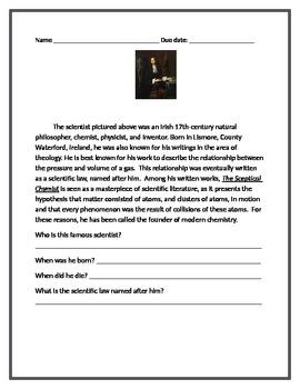 Famous Scientist worksheets