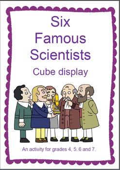 Famous Scientists Cube
