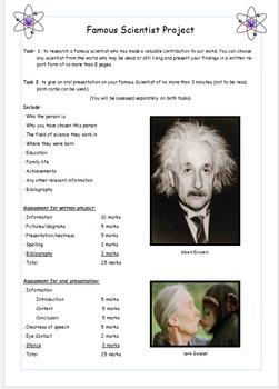 Famous Scientists Project
