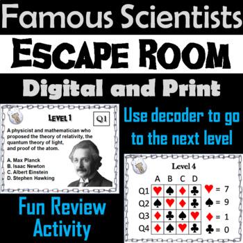 Famous Scientists Escape Room