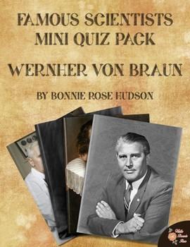 Famous Scientists Mini Quiz Pack: Wernher von Braun