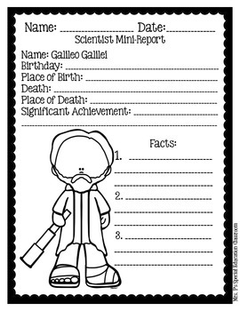 Famous Scientists Mini-Reports