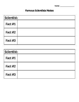 Famous Scientists Notes Organizer