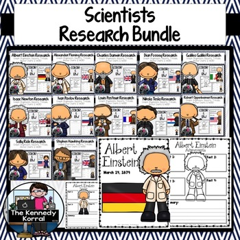 12 Biography Research Trifold BUNDLE {Scientists}
