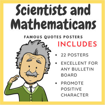 Famous Scientists and Mathematicians: 18 Inspirational Posters