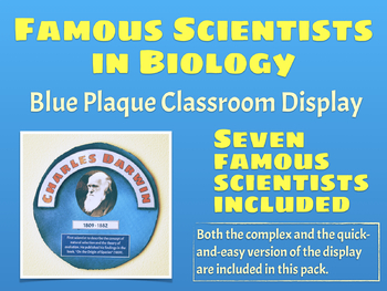 Famous Scientists in Biology (Blue Plaque display)