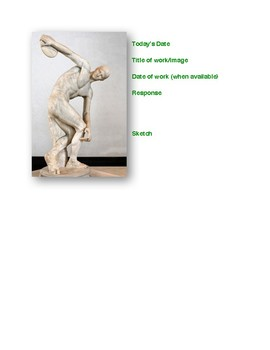 Famous Sculptures 'Artist of the Day' Workbook