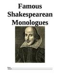 Famous Shakespearean Monologues