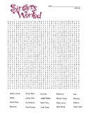 Famous Singers - Difficult Word Search and Coloring Page   (use in SUB PLAN?)