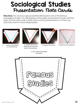 Sociology Research Editable Project