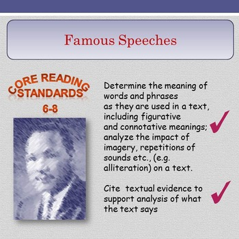 'Famous Speeches' - Figurative and Connotative Meaning