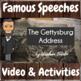 Famous Speeches - Video & Activities Growing Bundle!