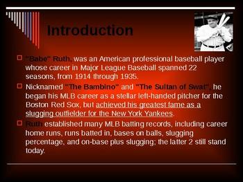 Sports & Entertainment - Babe Ruth
