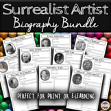 Famous Surrealist Artists Weekly Biographical Worksheet