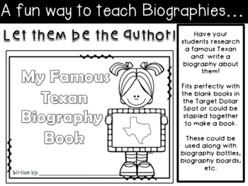 Famous Texan Biography Book