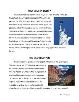 Famous U.S. Landmarks Activity