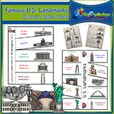 Famous U.S. Landmarks Interactive Foldable Booklet