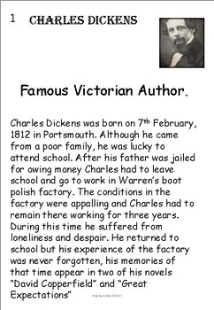 Famous Victorian Men Charles Dickens