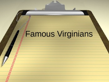 Famous Virginia PowerPoint