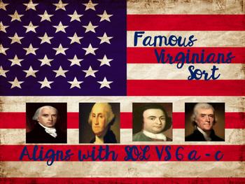 Famous Virginians Sort SOL VS6