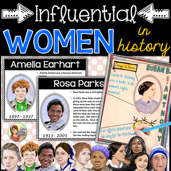 Famous WOMEN in History Powerpoint Posters & Doodle Notes by