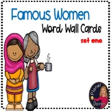 Famous Woman Fact Wall Cards----Women's History Month (set one)