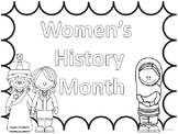 Famous Women's History Month  COLORING PAGES and INFORMATIONAL TEXT
