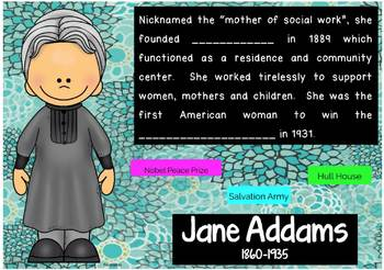 Famous Women Interactive Flashcards, Boom Cards™, Women's History Month