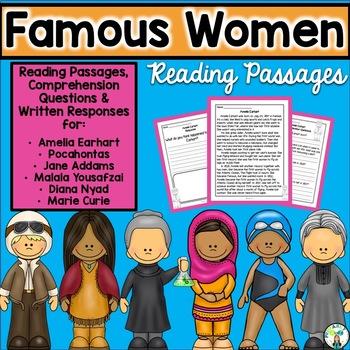 Famous Women Reading Passages {PLUS Comprehension Questions!}