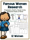 Famous Women Research Project -12 People Vocab Cards, Packet, Book & More