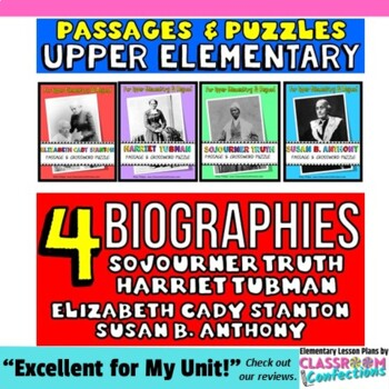 Susan B. Anthony, Sojourner Truth, Harriet Tubman, Elizabe