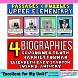 Susan B. Anthony, Sojourner Truth, Harriet Tubman, Elizabeth Cady Stanton