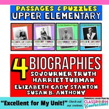 Susan B. Anthony, Sojourner Truth, Harriet Tubman, Elizabeth Cady Stanton