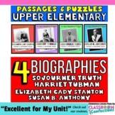 Susan B. Anthony, Sojourner Truth, Harriet Tubman, Elizabe
